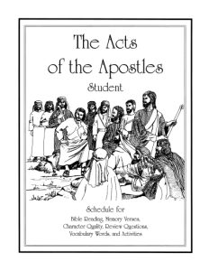 New Release: Acts of Apostles Study Guides